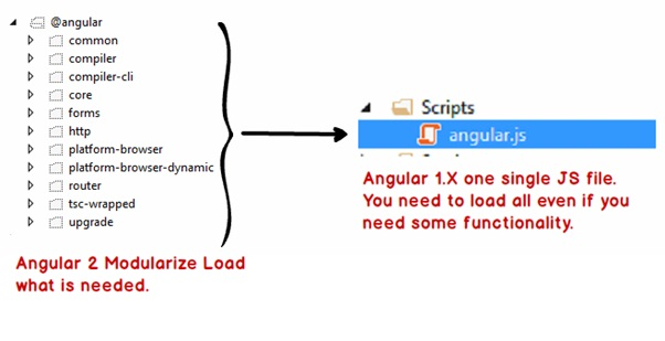 Angular Components and Modules Running Angular Application