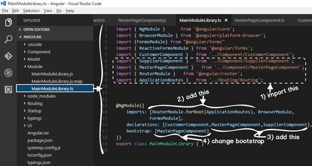 Single Page Application using Angular 2 using Angular routing